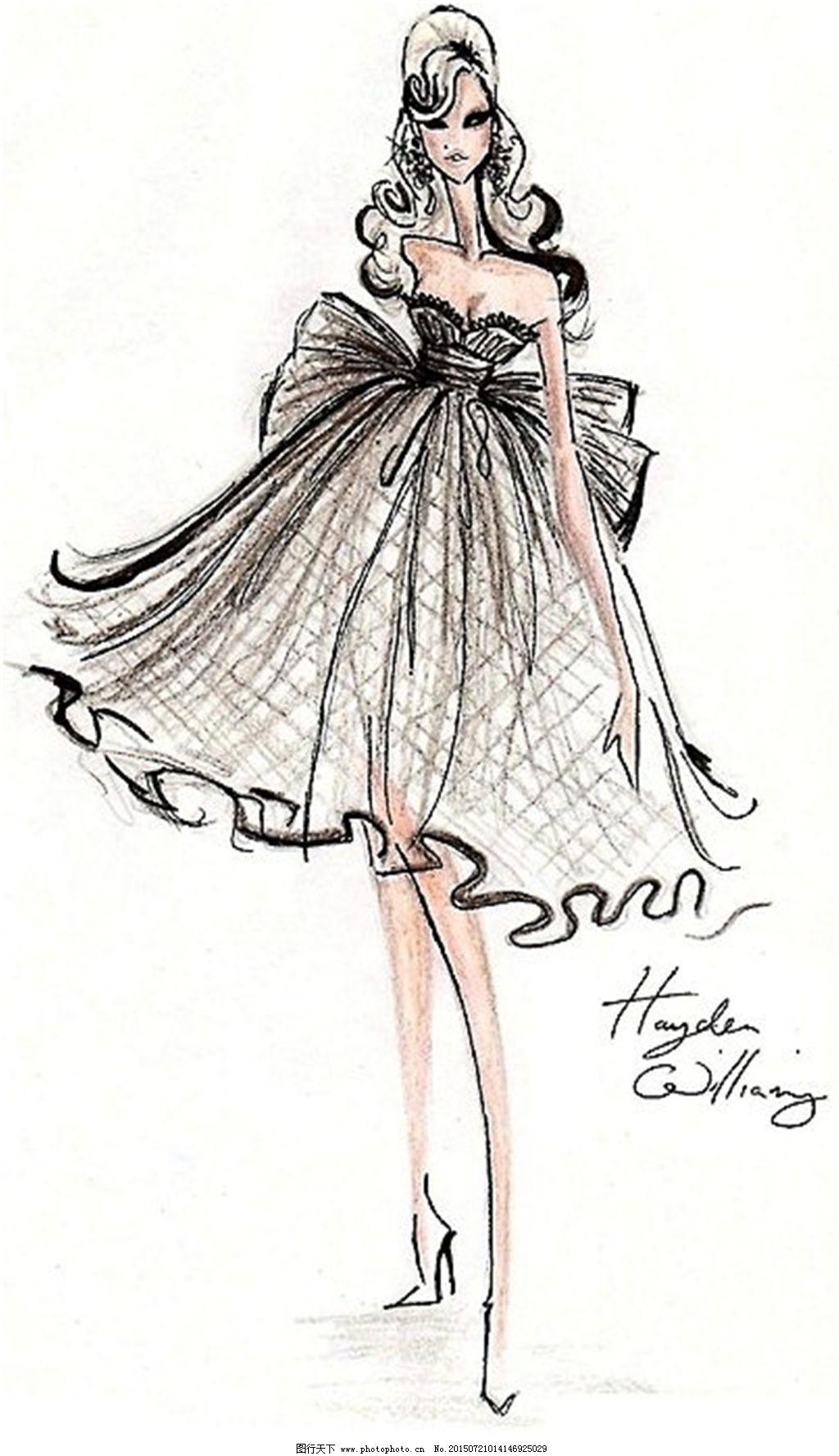 手绘服装设计一系列22