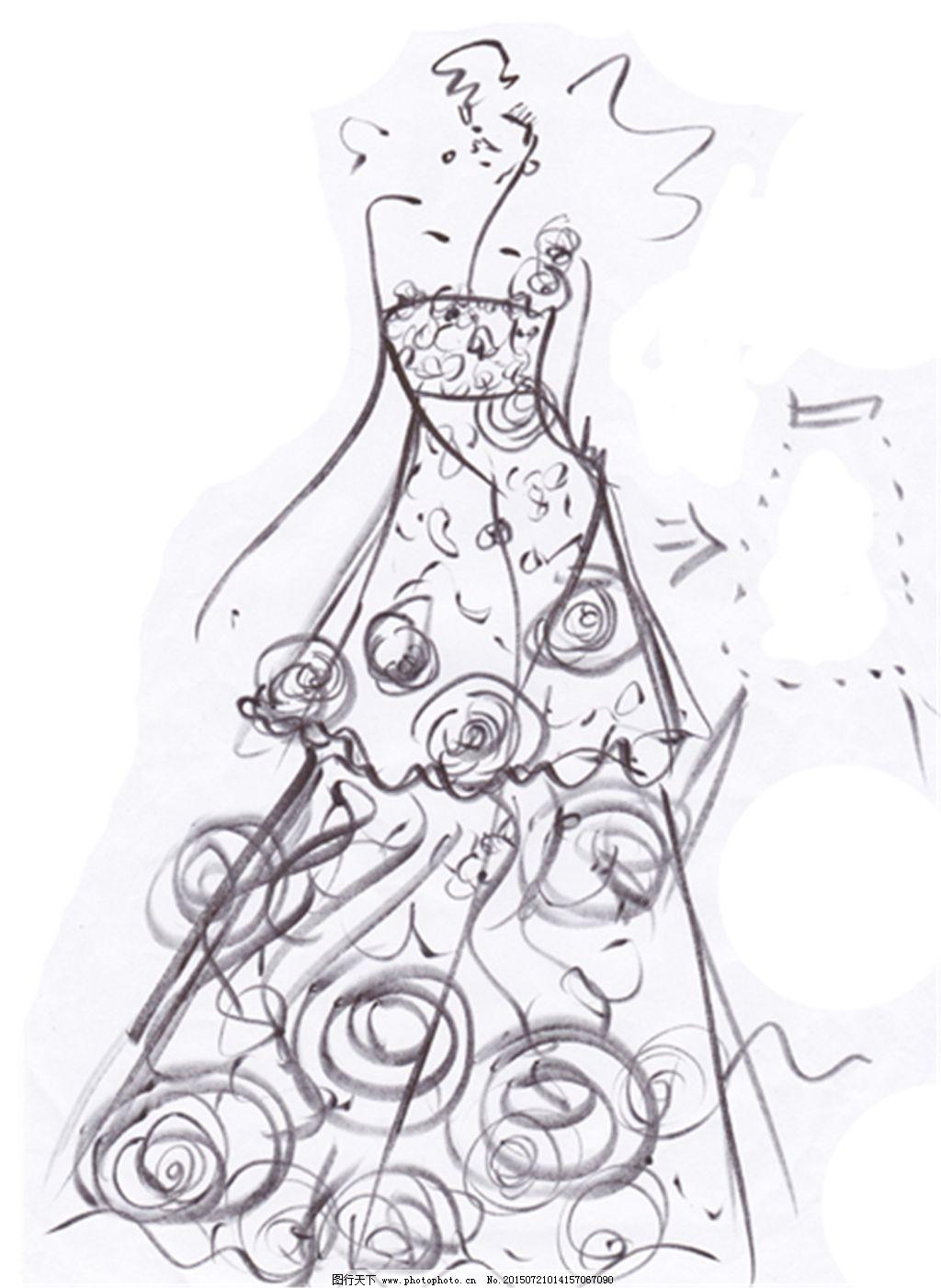 手绘服装设计8