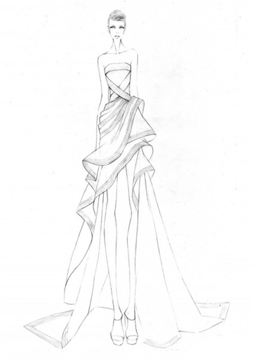 手绘服装设计一系列7
