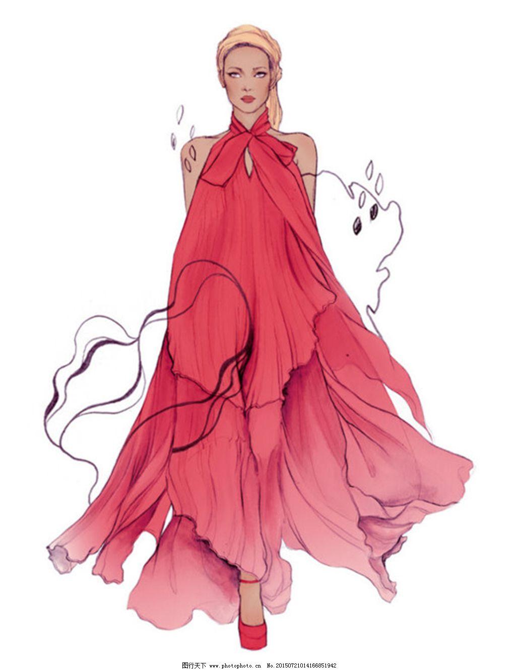手绘服装设计4