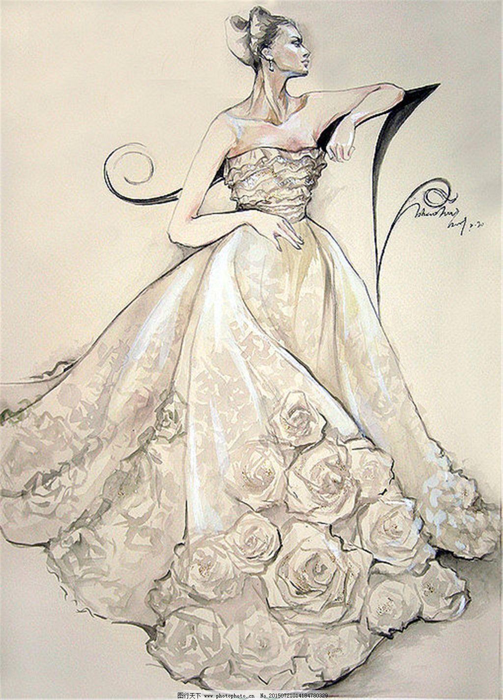 手绘服装设计一系列6图片