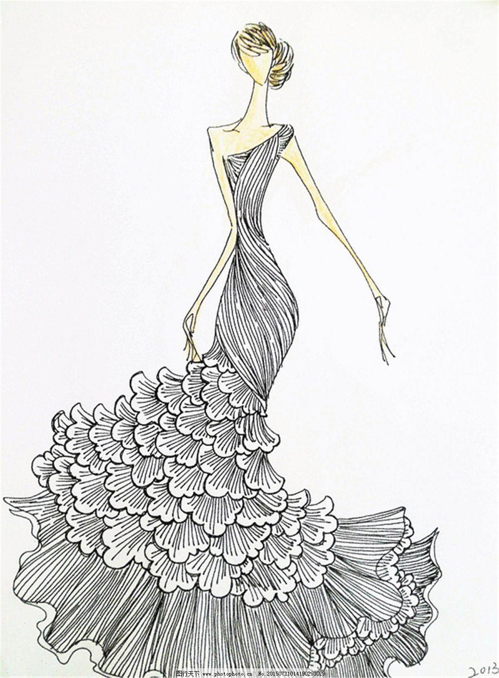 手绘服装设计一6