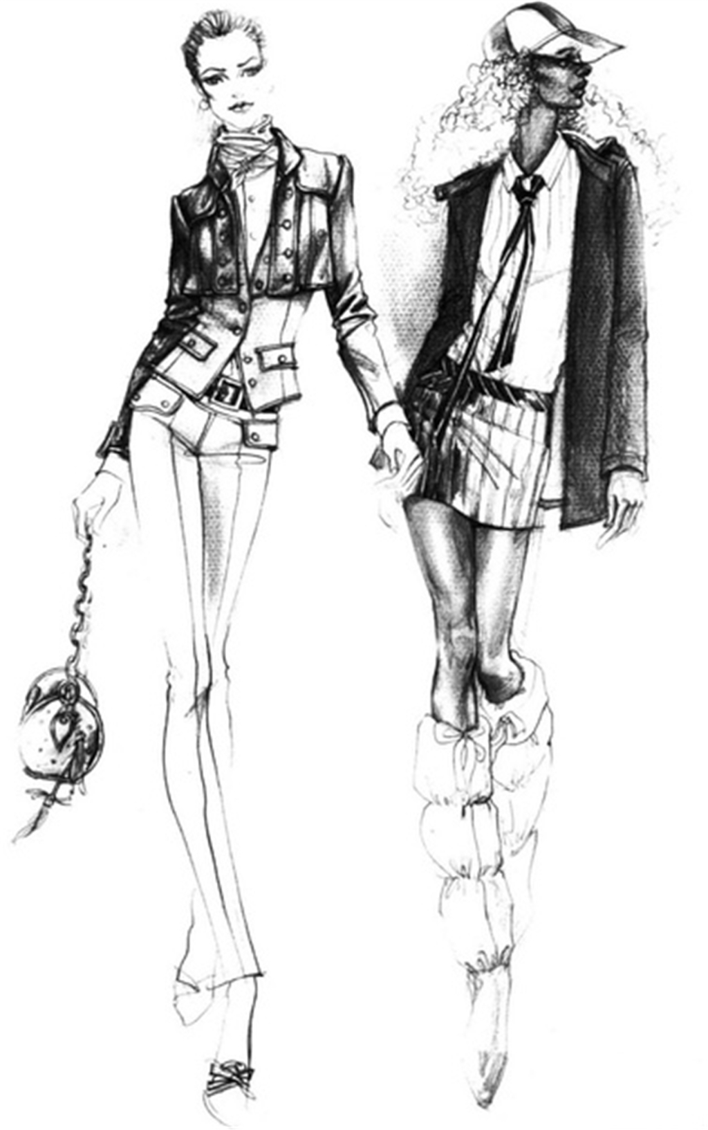 手绘服装设计一系列1