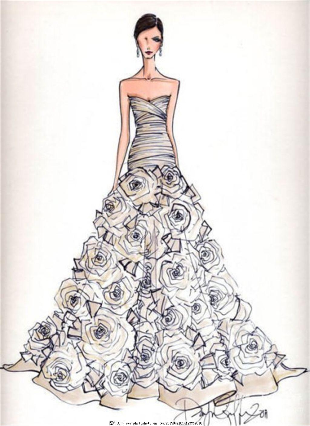 手绘服装设计4_手绘服装设计