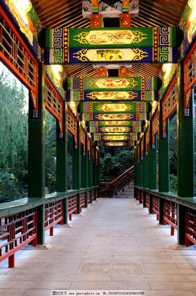 长廊 走廊 夜景 古建筑 中式 传统 连廊 摄影 旅游摄影 其他 300dpi j