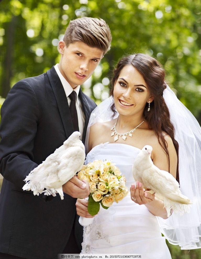 婚礼新人图片