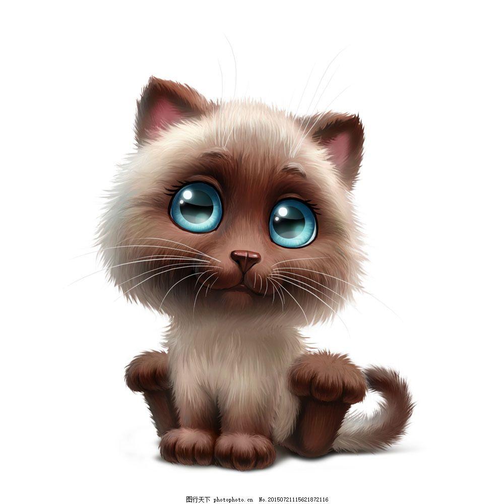 可爱卡通3d小猫 萌 卡通小猫 猫咪 可爱动物 卡通动物 其他类别
