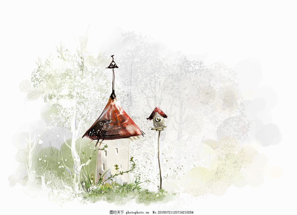 手绘的小房子