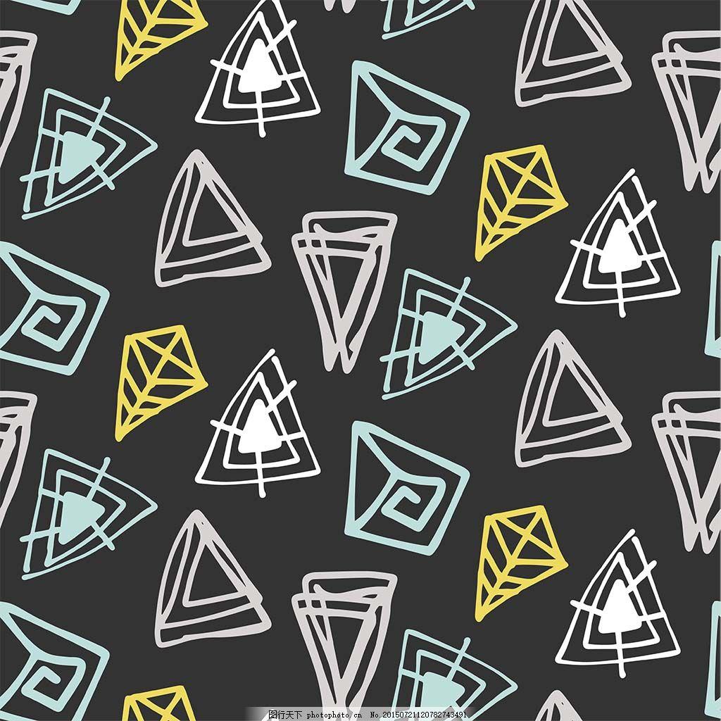 三角形手绘背景