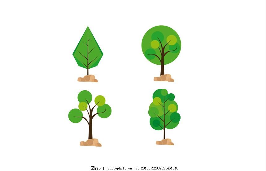 可爱小树插画图片
