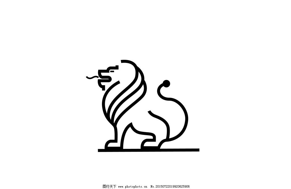 logo 狮子 霸气 企业 动物 公司 标志 森林之王