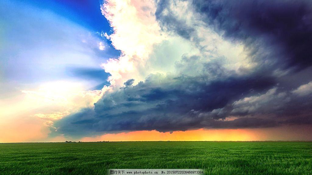草原 黄昏 清爽 云彩 草原 黄昏 云彩 清爽 图片素材 风景 生活 旅游