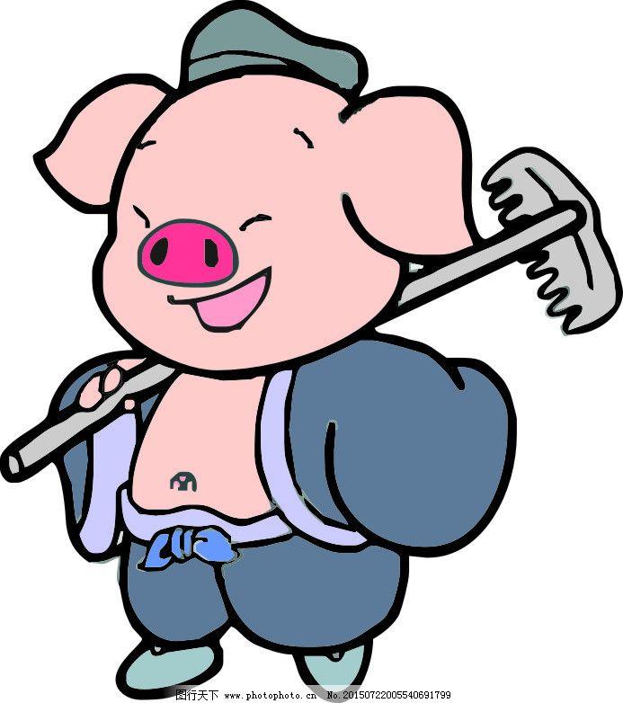 卡通西游记猪八戒矢量图