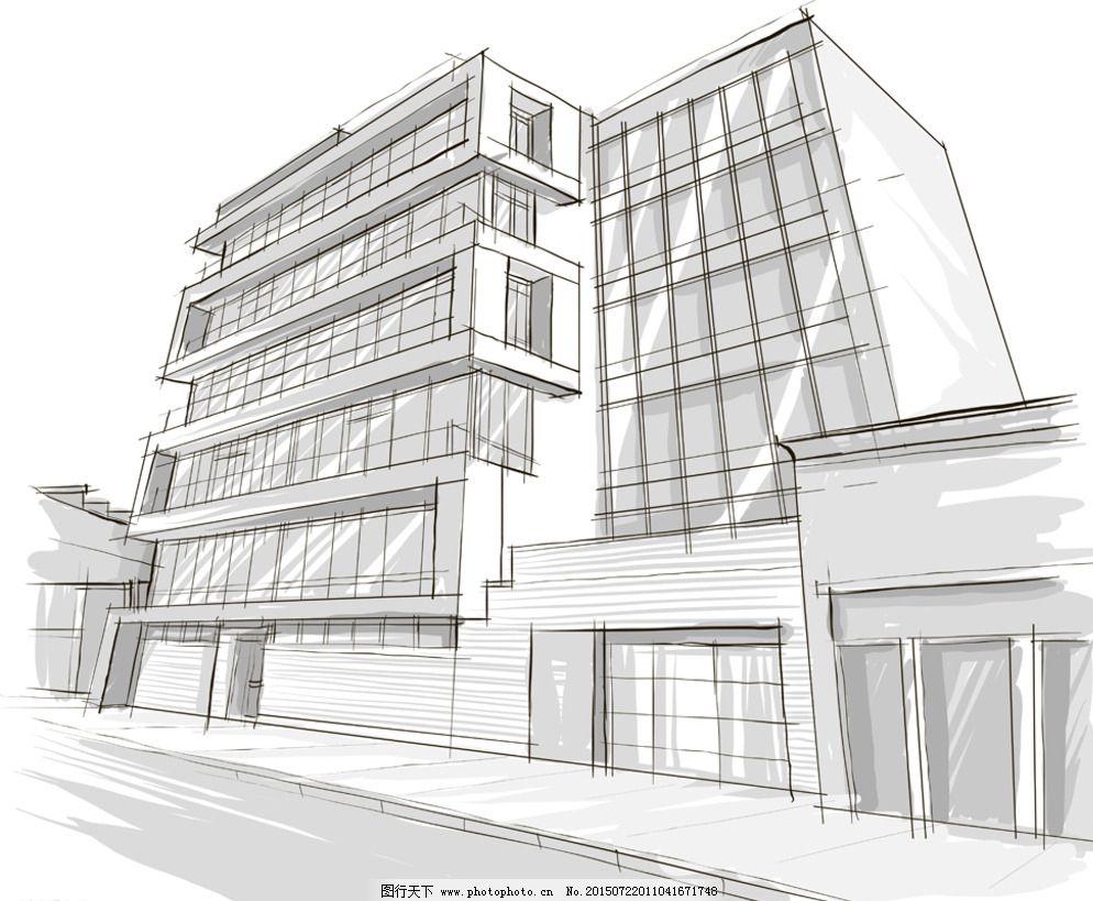 手绘建筑图片免费下载 eps 城市建筑 环境设计 建筑设计 建筑园林