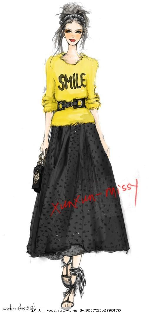 服装搭配 服装手绘图 服装手绘图