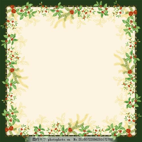蔷薇 装饰花卉 贺卡 分层 鲜花 红色 绿色 相框 psd 花边 花藤 欧式