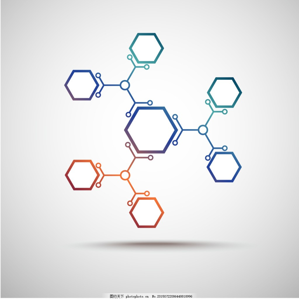 分子六边形素材 分子六边形结构素材 分子结构 白色