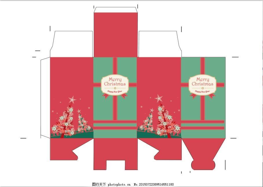 包装设计 包装盒展开图 结构图