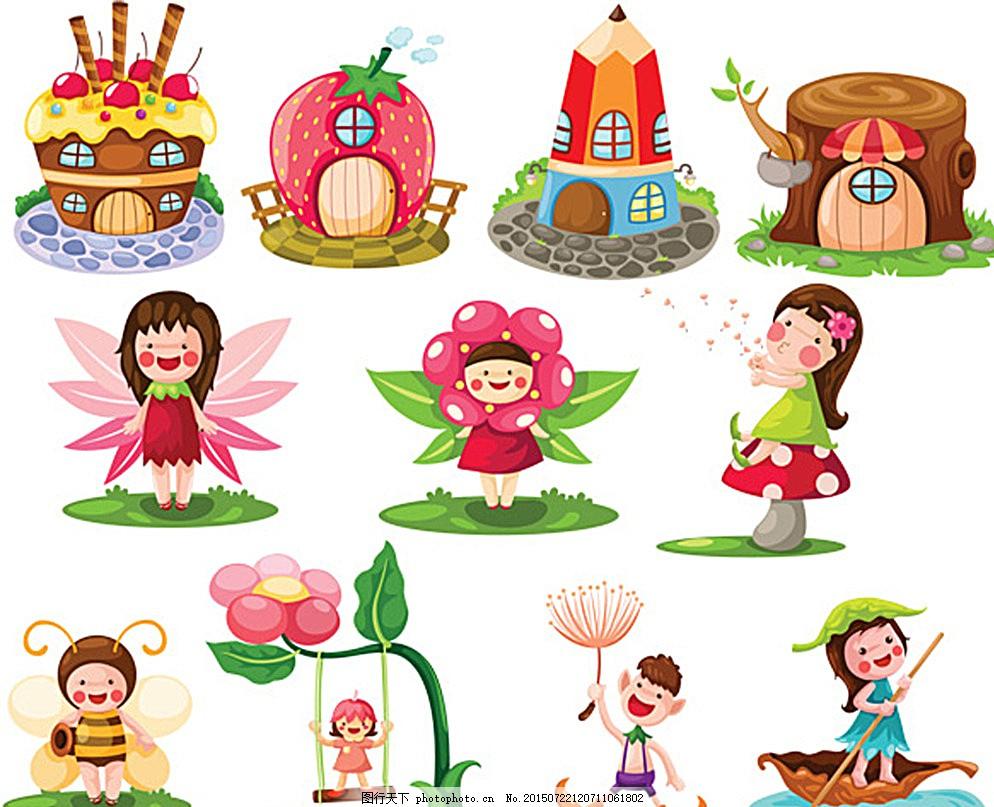 卡通矢量素材 底纹背景 花纹花边 可爱动物 婴儿素材 婴幼儿素材 墙贴