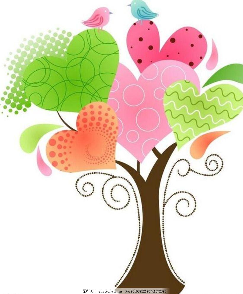 创意树木边框简笔画
