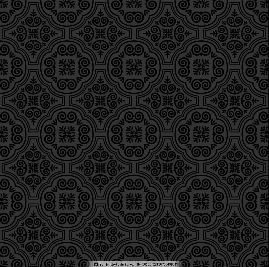 欧式古典花纹底纹矢量素材 古典花纹 大马士革花纹 欧式花纹 底纹背景