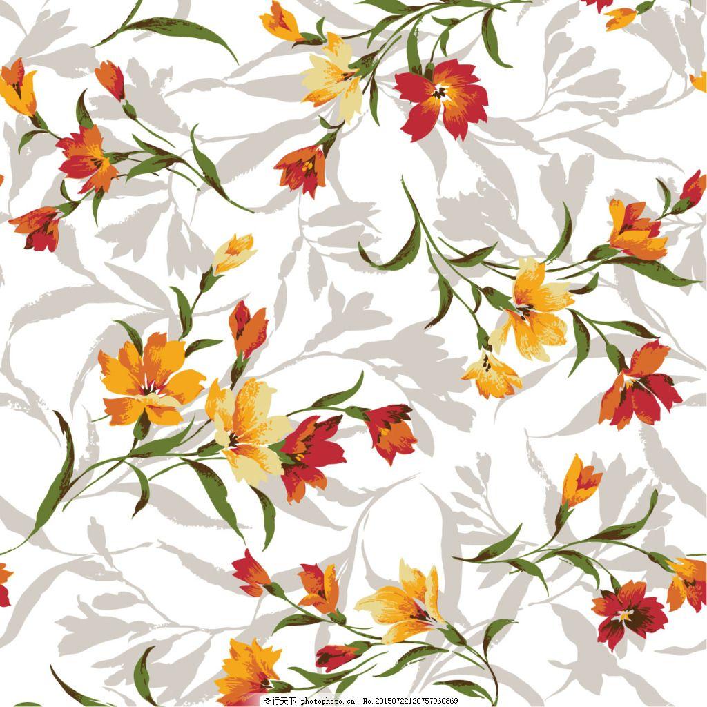 水粉图案花卉图案
