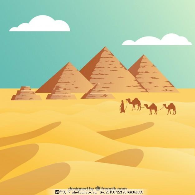 埃及沙漠与金字塔
