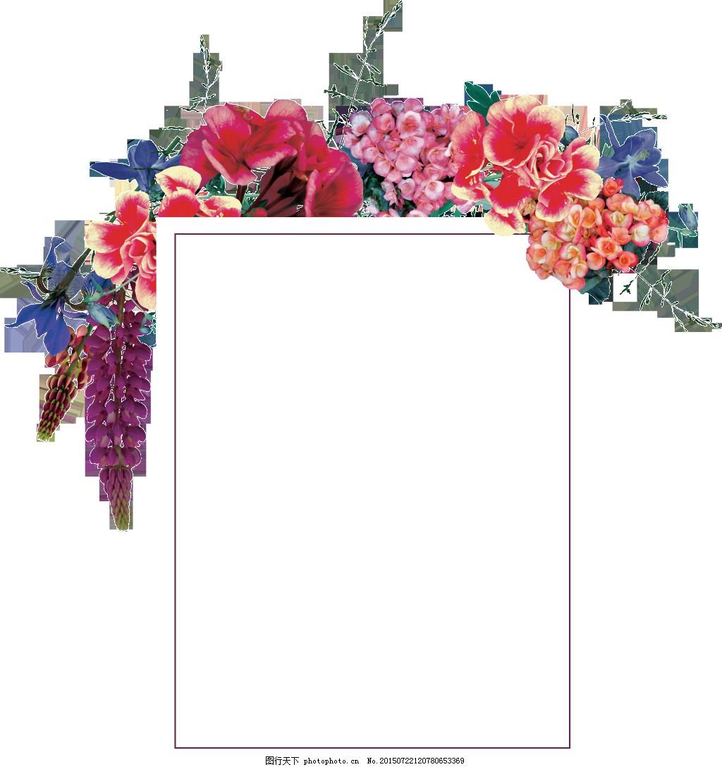 手绘个性简单文字框png透明素材 长方形 点缀 花边 空白 免扣素材