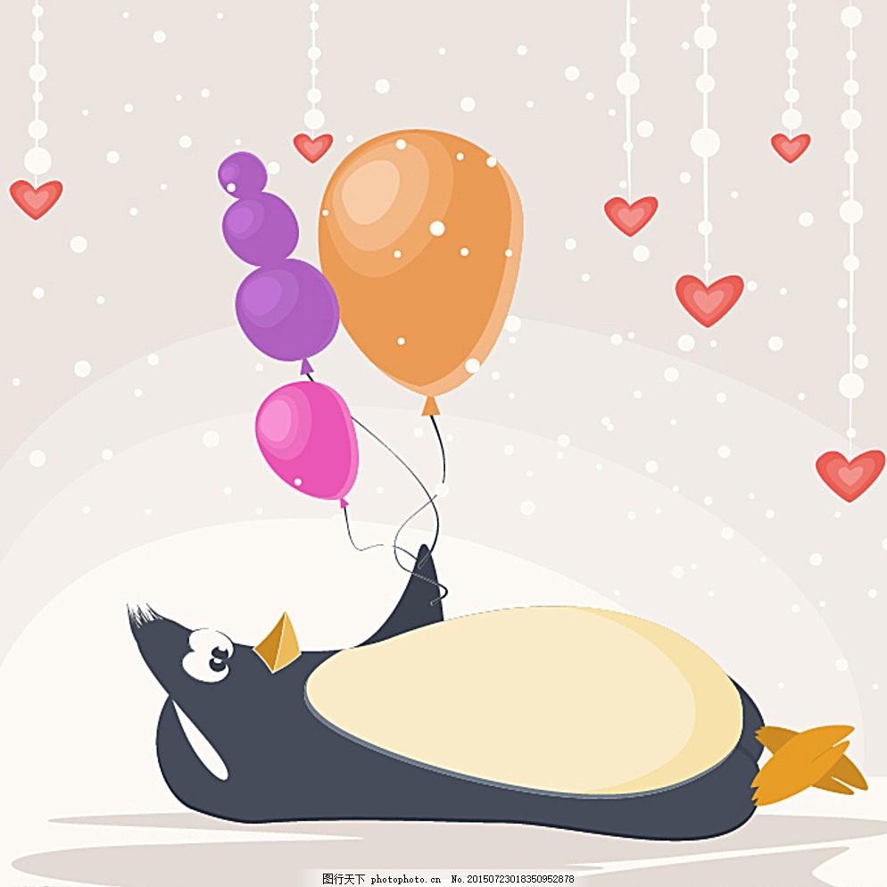 卡通的小企鹅图片
