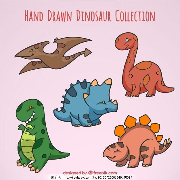 宝贝 一方面 自然 动物 手绘 可爱的怪物 画画 恐龙 可爱的动物 画野