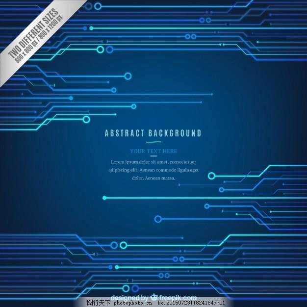 蓝色的技术背景 背景 抽象 技术 蓝色背景 蓝色 板 技术背景 电路