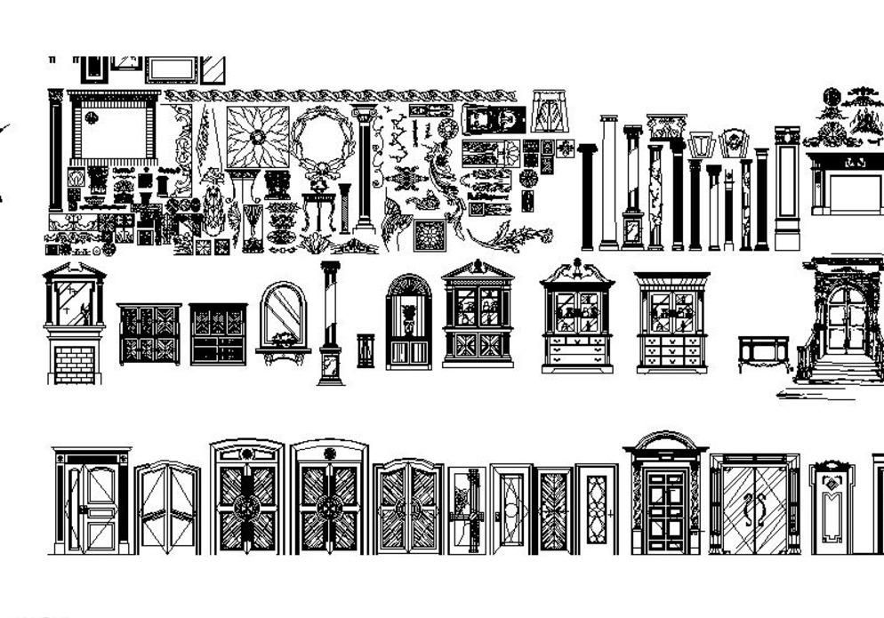 欧式家具cad图片