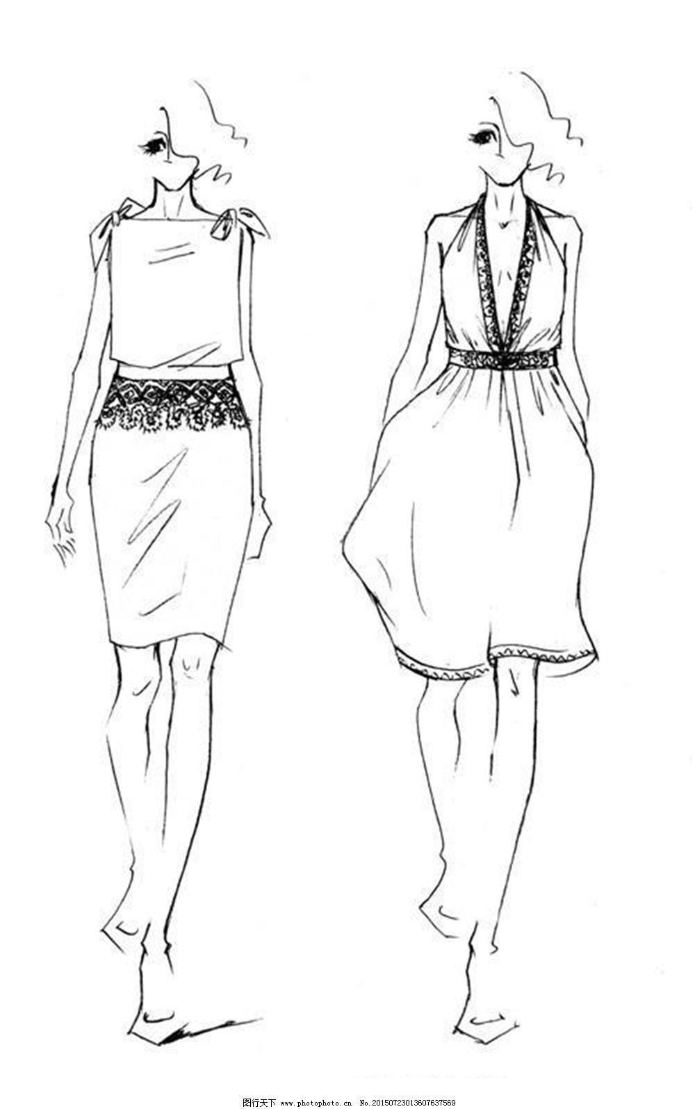 手绘服装设计v图片