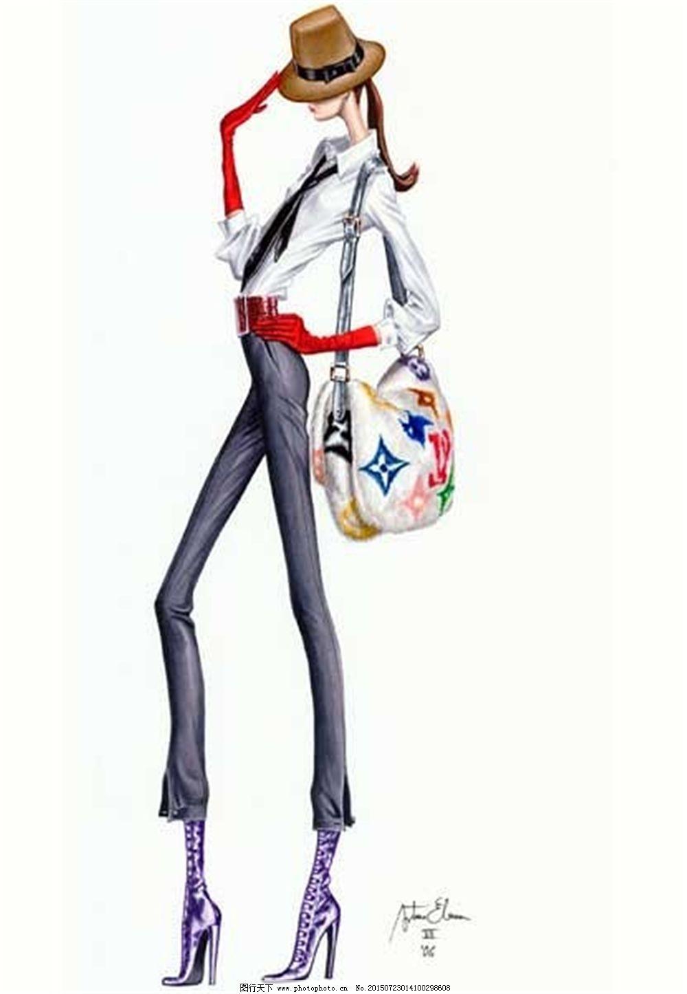 手绘服装设计_手绘服装设计