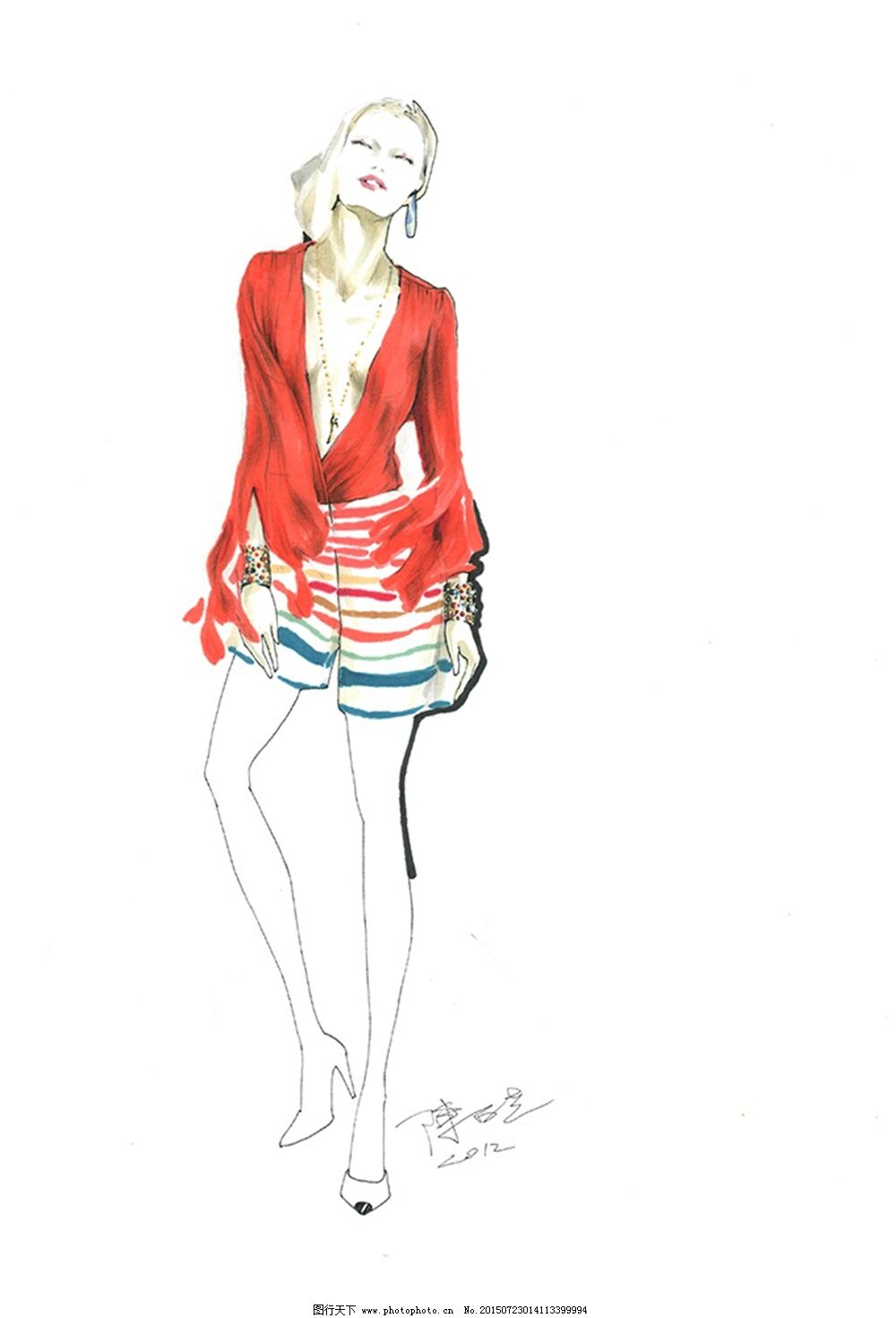 手绘服装设计