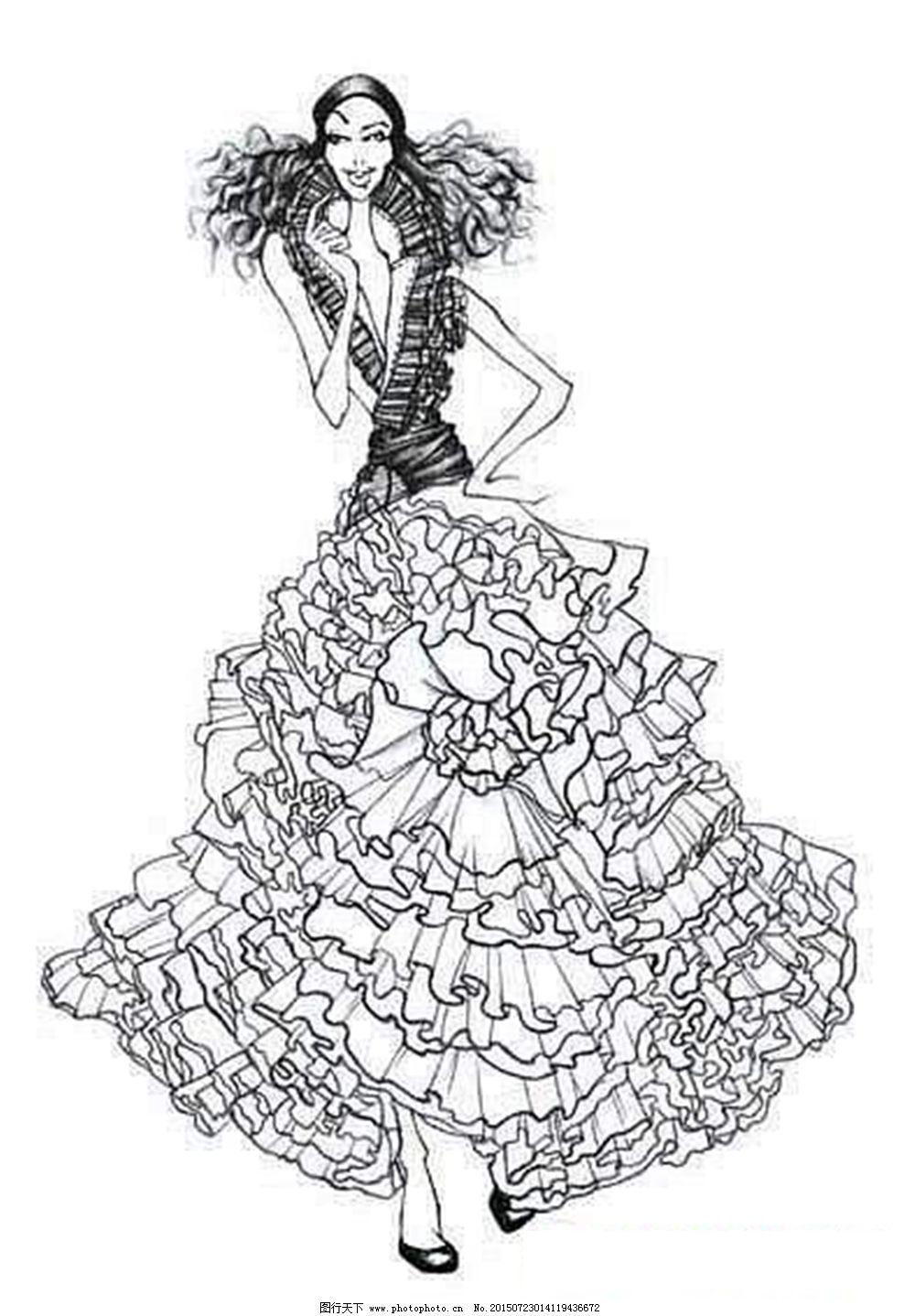 手绘服装设计免v