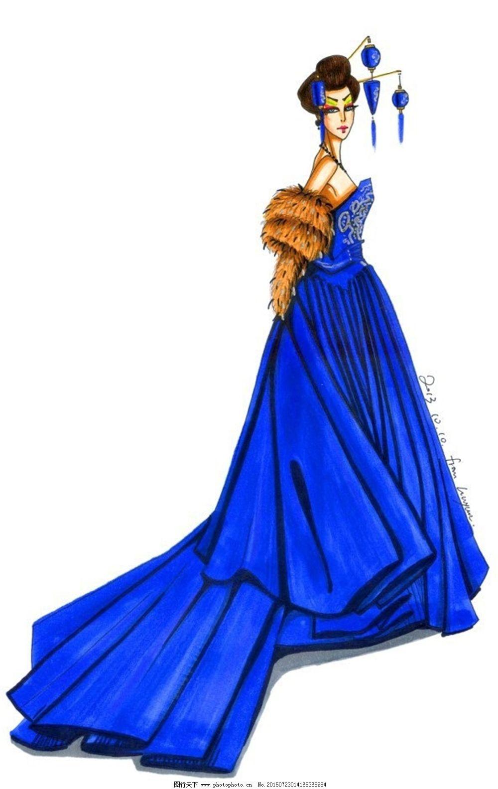 手绘服装设计vv