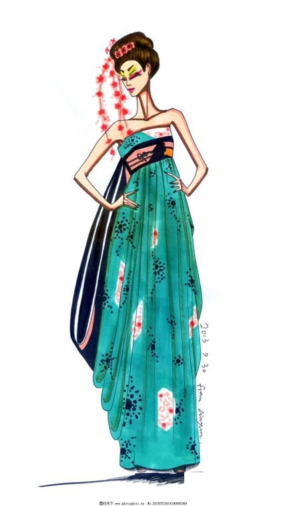 手绘服装设计v