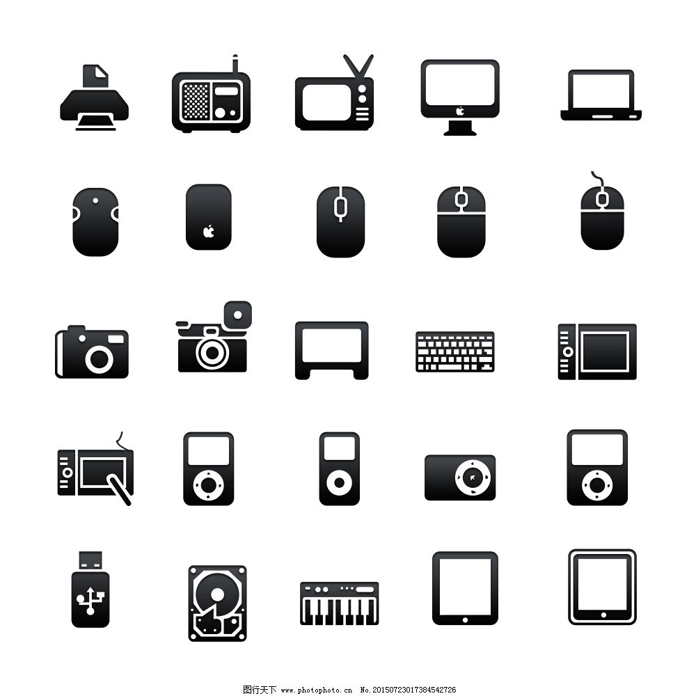 icon ipad 笔记本 常用图标 传真机 电视 黑白 键盘 投影仪 图标 笔记本 常用图标 图标 黑白 icon 鼠标电脑 笔记本手机 传真机 显示器 电视 相机 键盘 ipad 投影仪 电子元件 UI设计 图标设计