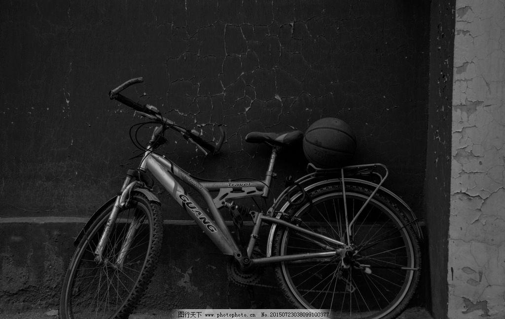 自行车 背景图片 篮球 摄影 黑白图 现代科技 交通工具