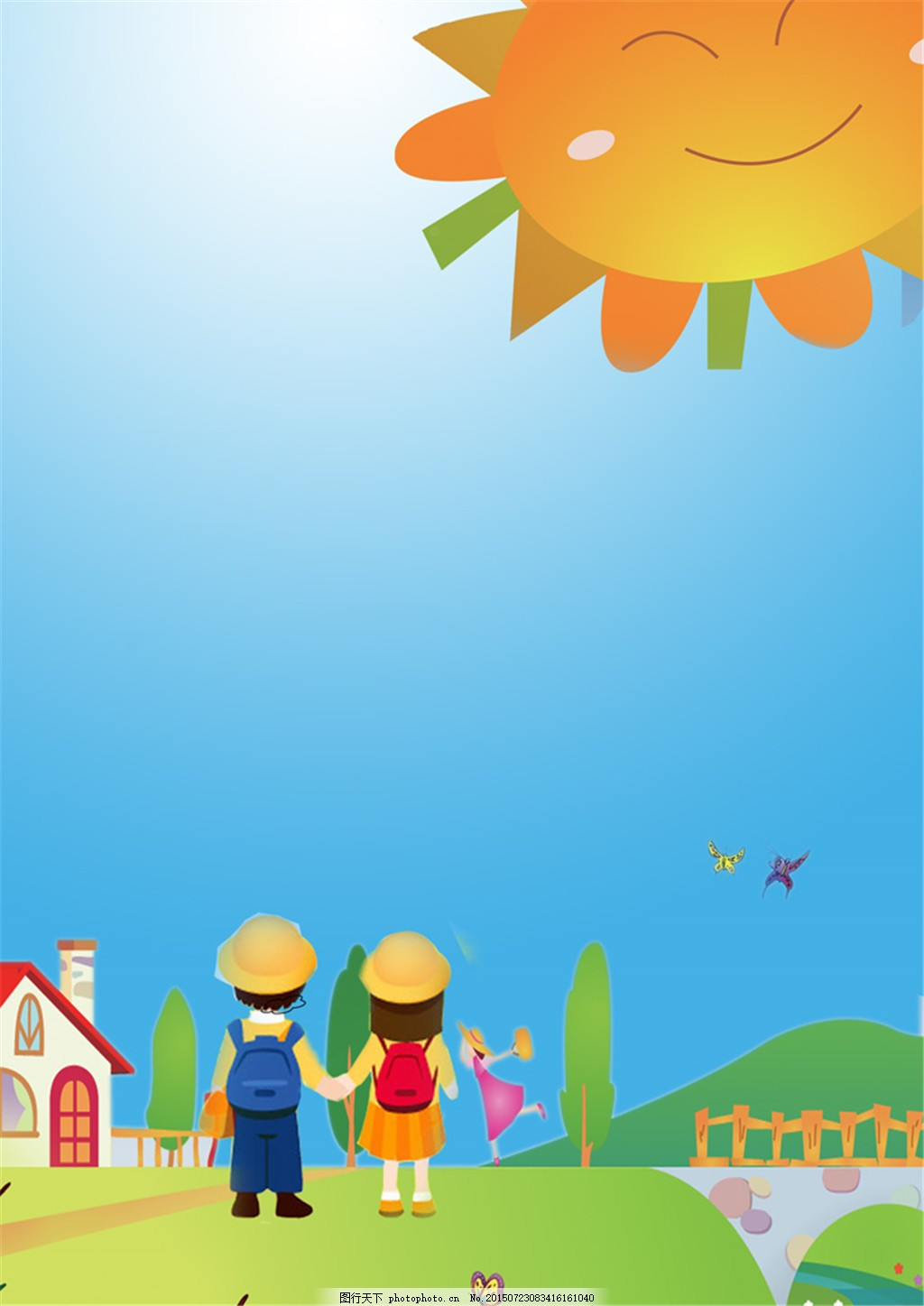 儿童幼儿园成长档案psd模板 宝宝照片 相册模板 源文件 照片书模板图片