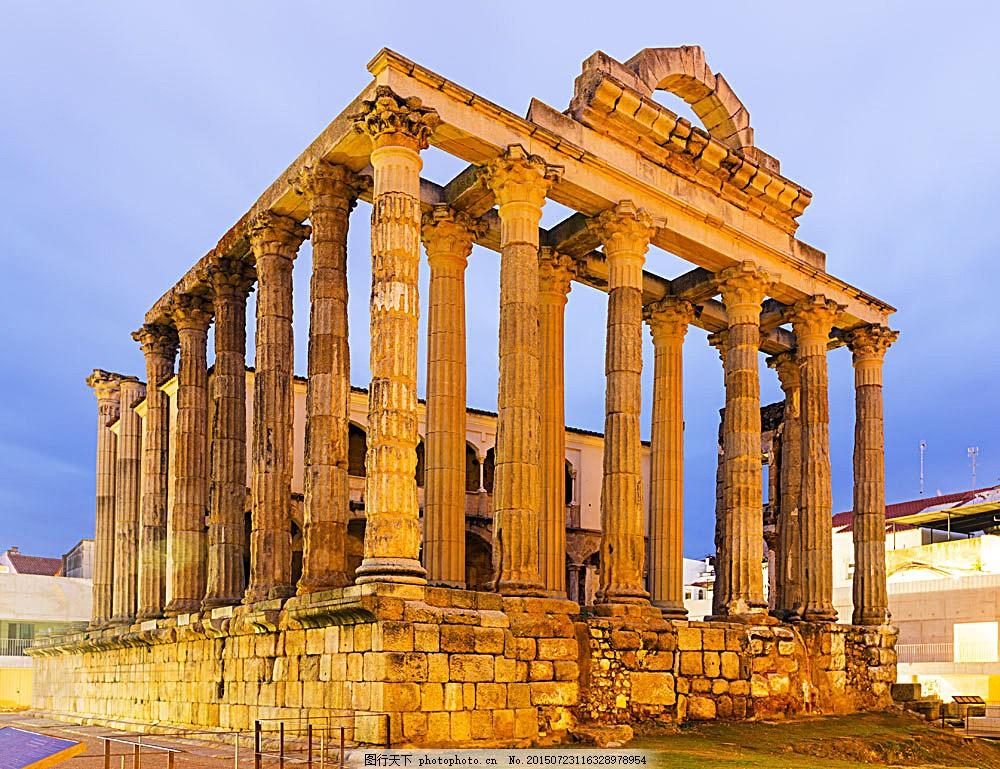 希腊神庙风景