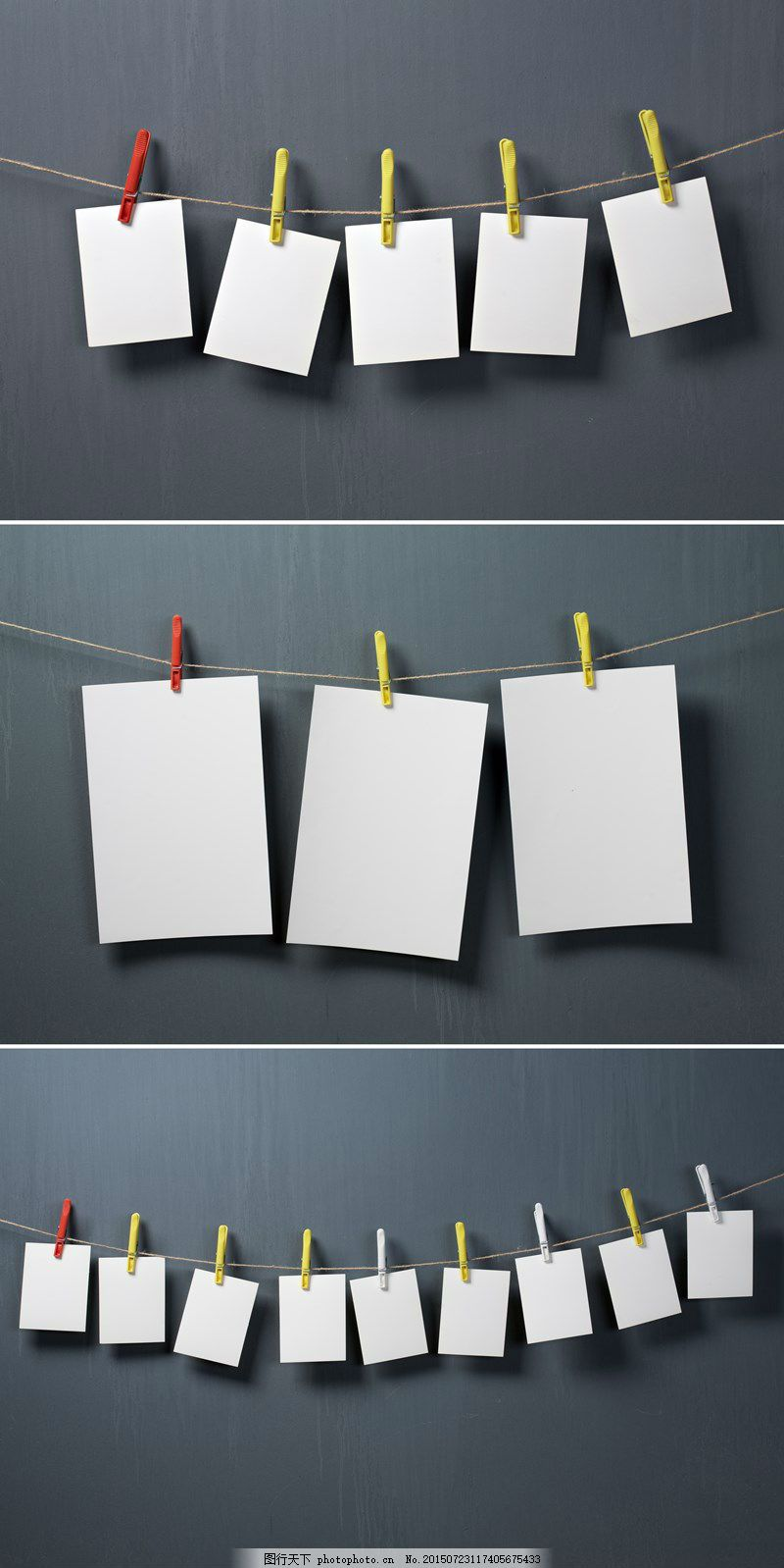 空白相片与夹子高清图片