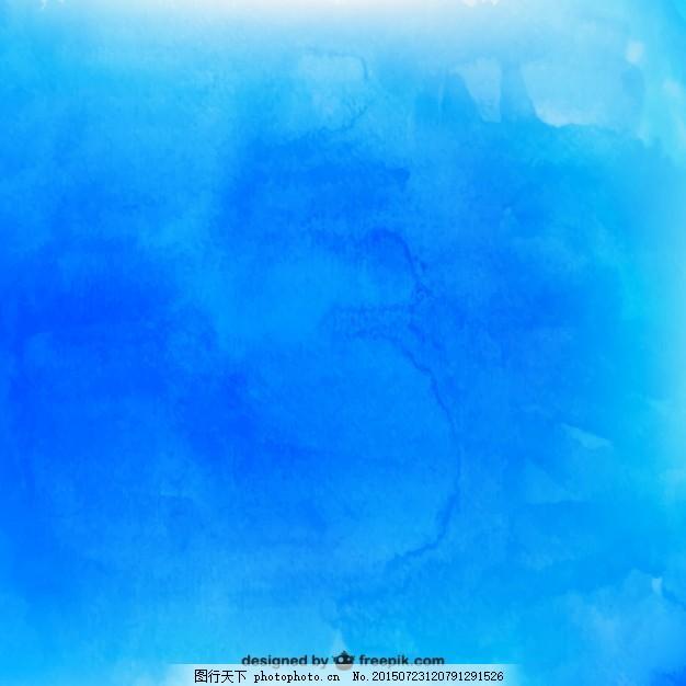 蓝色水彩肌理