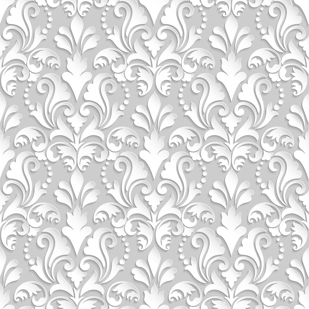 无缝拼接雕刻底纹 花纹雕刻 立体花纹 欧式花纹 大气花纹 白色花纹图片