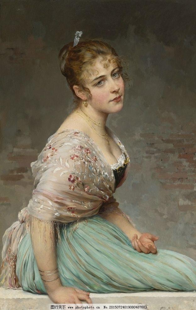 油画美女图片,装饰画 无框画 欧式油画 唯美 油画艺术