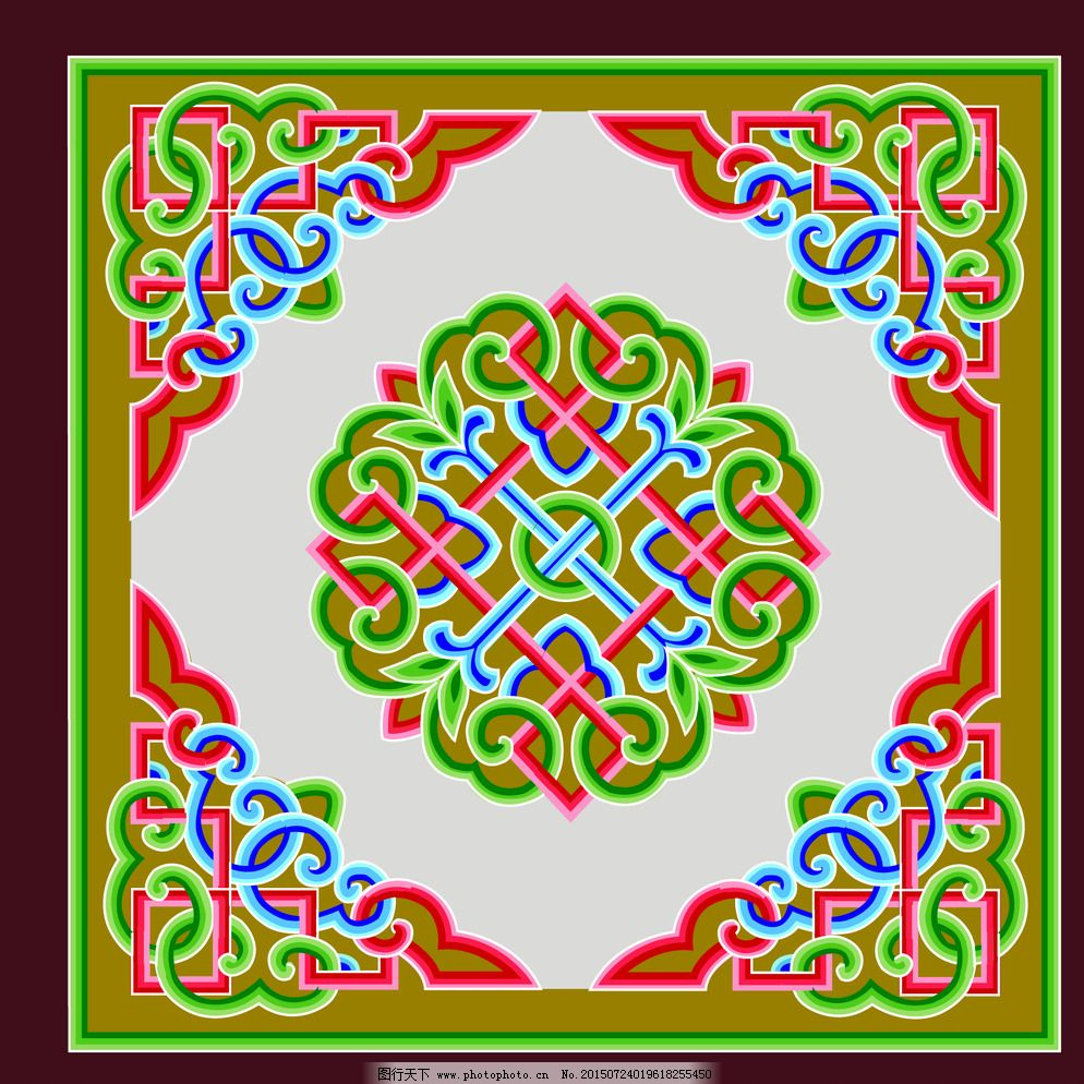 蒙古族图案 传统 传统文化 花纹 民族 纹样 艺术 少数 样式