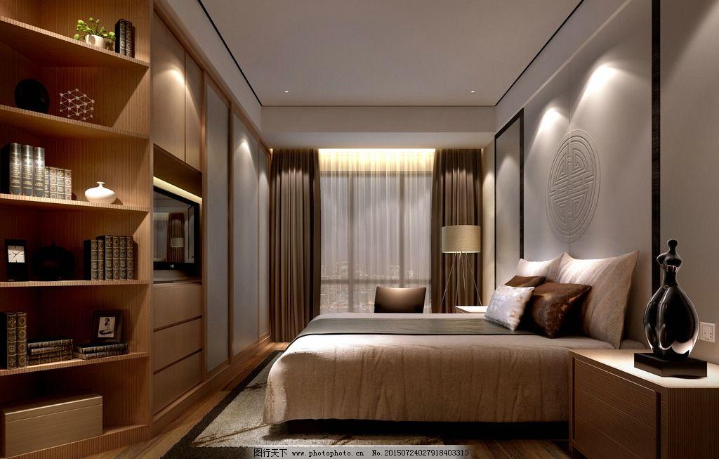 中式主卧室 新中式主卧 主卧设计 客房设计 卧室效果图 设计 环境设计图片