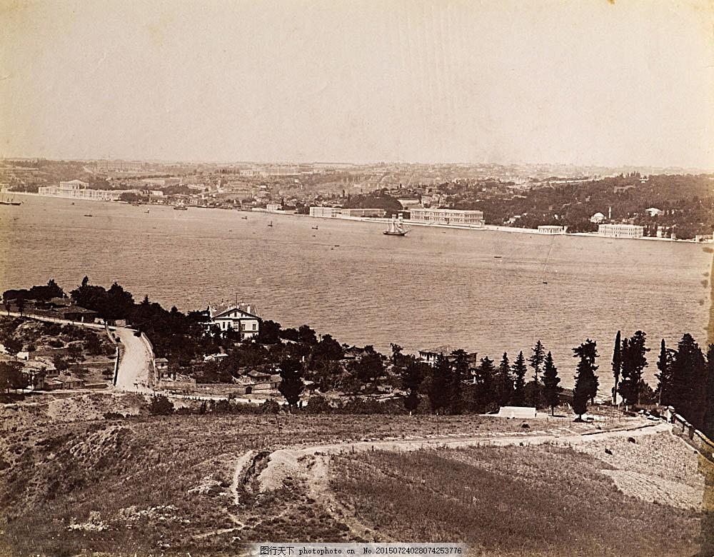 伊斯坦布尔海岸风景 土耳其风景 老照片 黑白相片 城市风景 美丽风景