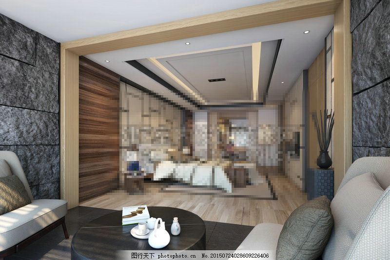 卧室空间素材下载max 卧室空间下载max 卧室空间max 欧式 灰色